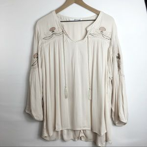 Maurice's Embroidered Floral Blouse, 3